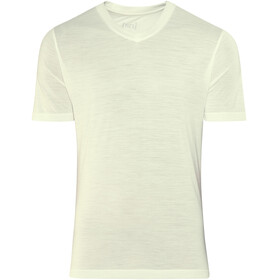 super.natural M's 140 Base V Neck Tee Fresh White